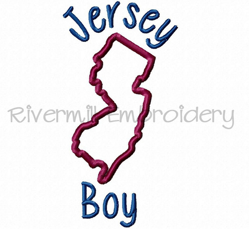 Applique Jersey Boy Machine Embroidery Design