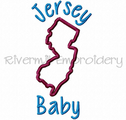 Applique Jersey Baby Machine Embroidery Design