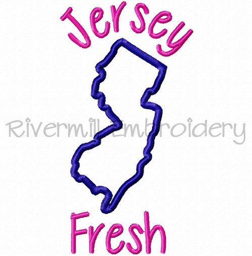 Applique Jersey Fresh Machine Embroidery Design