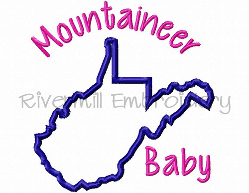 Applique Mountaineer Baby Machine Embroidery Design