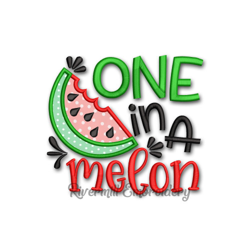 One In A Melon Machine Embroidery Design