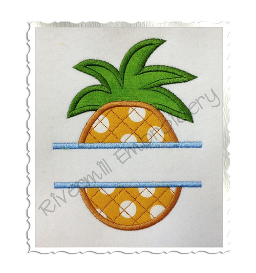 Split Pineapple Applique Machine Embroidery Design