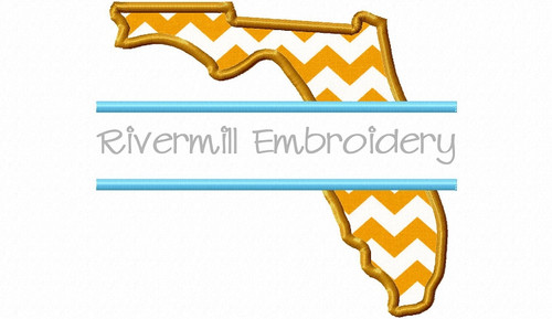 Split Applique State of Florida Machine Embroidery Design