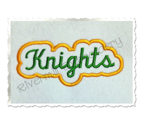 Applique Knights Team Name Machine Embroidery Design