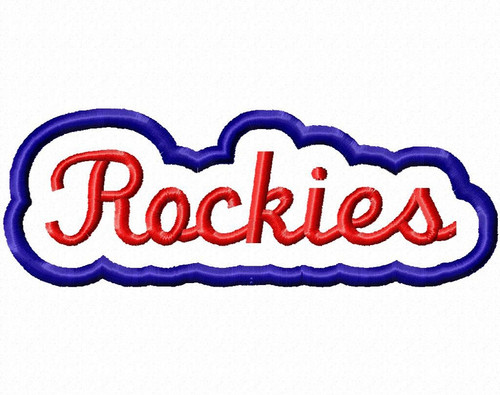 Applique Rockies Team Name Machine Embroidery Design