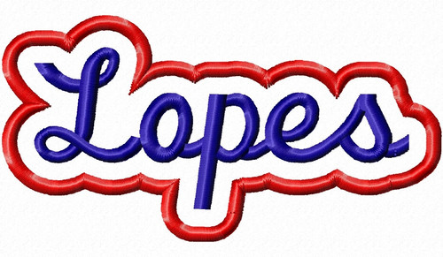 Applique Lopes Team Name Machine Embroidery Design