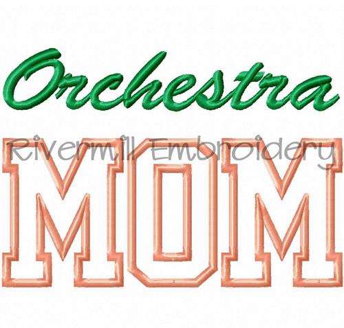Orchestra Mom Applique Machine Embroidery Design