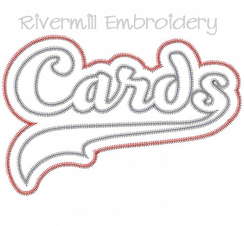 Zig Zag Double Applique Cards Machine Embroidery Design