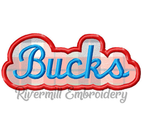 Applique Bucks Team Name Machine Embroidery Design