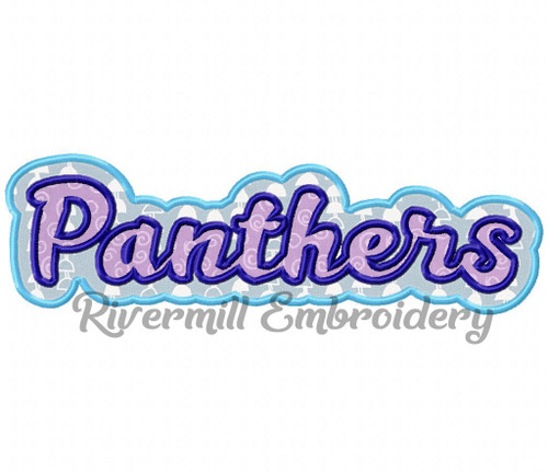 Double Applique Panthers (No Swash Tail) Machine Embroidery Design