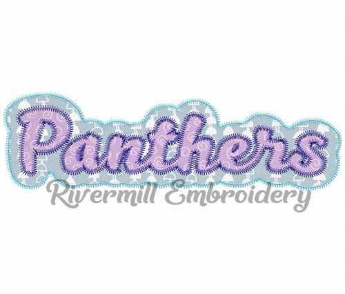 Zig Zag Double Applique Panthers (No Tail) Machine Embroidery Design