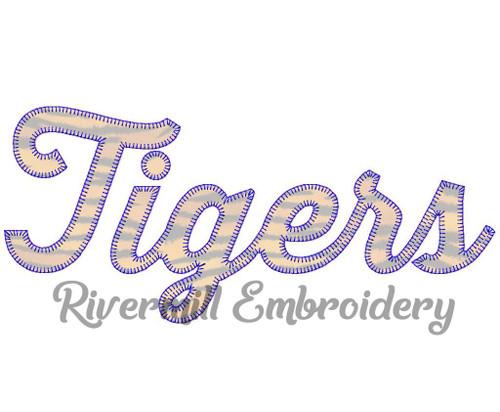 Tigers Blanket Stitch Machine Embroidery Design