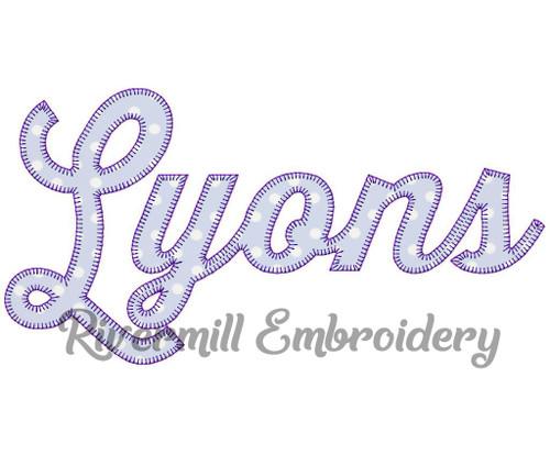 Lyons Blanket Stitch Machine Embroidery Design