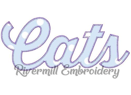 Cats Blanket Stitch Machine Embroidery Desig