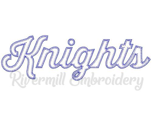 Knights Blanket Stitch Machine Embroidery Design