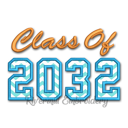 Class of 2032 Applique Machine Embroidery Design