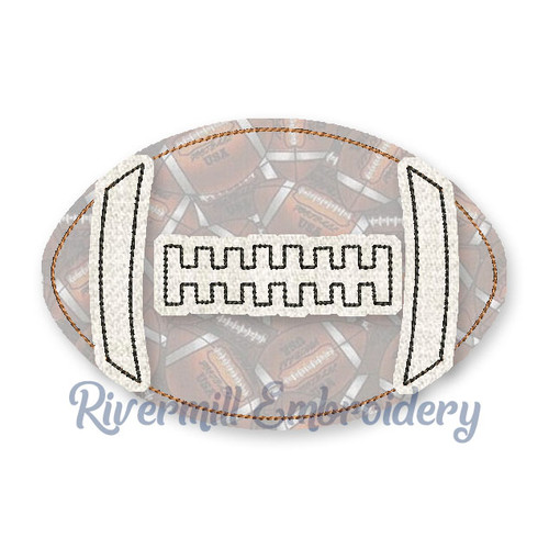 Large Raggy Applique Football Machine Embroidery Design