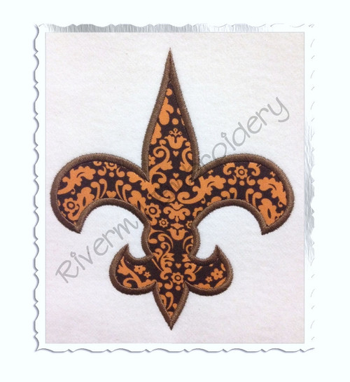 Applique Fleur De Lis Machine Embroidery Design