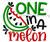 One In A Melon Machine Embroidery Design