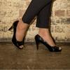 Black Mid Heel Pump I Nero by Scarlettos