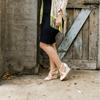 Blush & Bone Mid Heel Wedge I Beth by Scarlettos