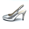 Silver Mid Heel Pump I Macie by Scarlettos