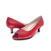 Red Kitten Heel Pump I Riddick by Scarlettos