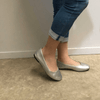 Silver Casual Ballet Flat I Samuel by Scarlettos