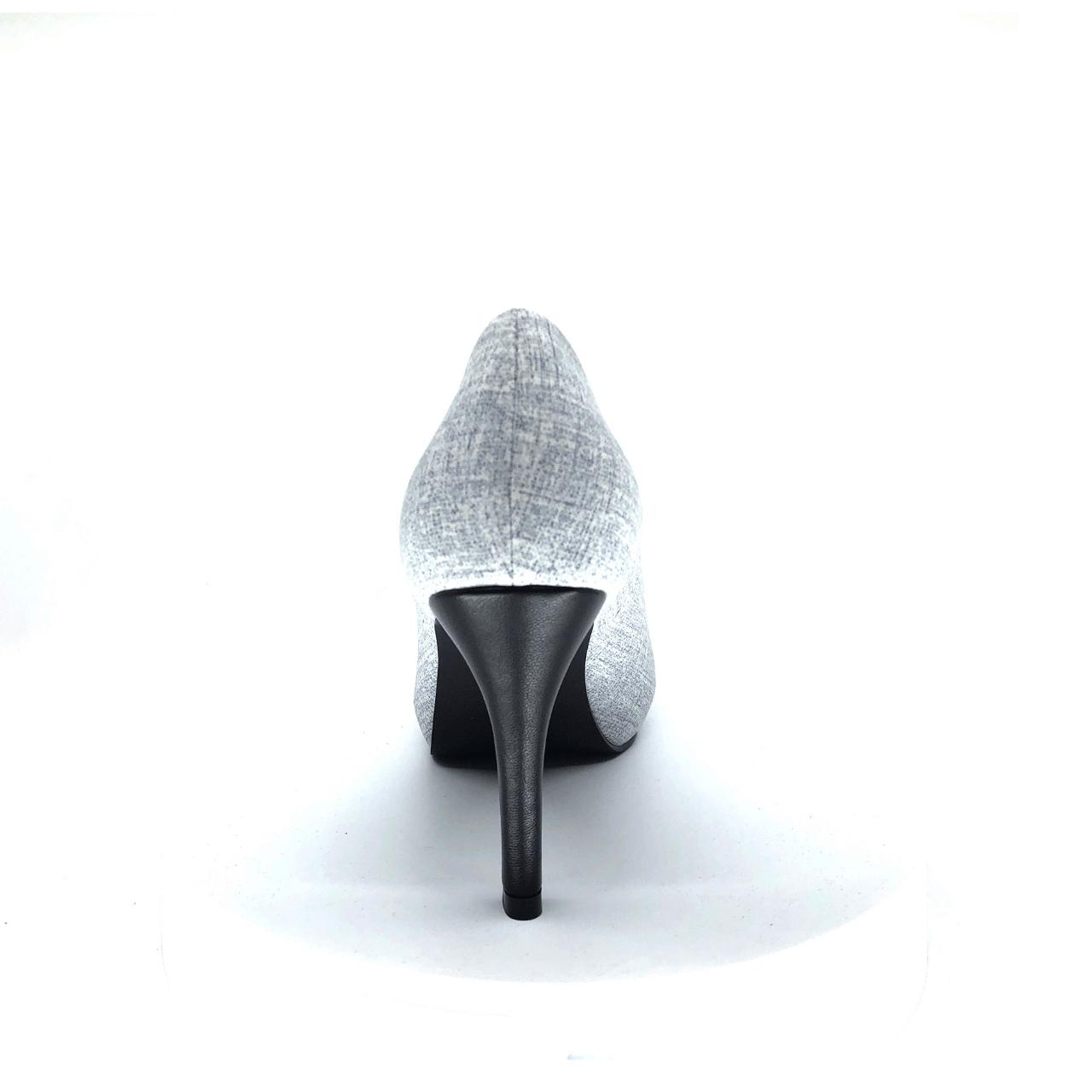 Black & White Mid Heel Pump I Willow by Scarlettos