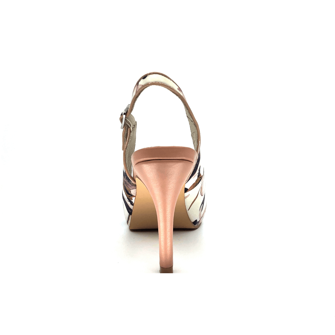 Ivory Floral Mid Heel Slingback I Ivy by Scarlettos