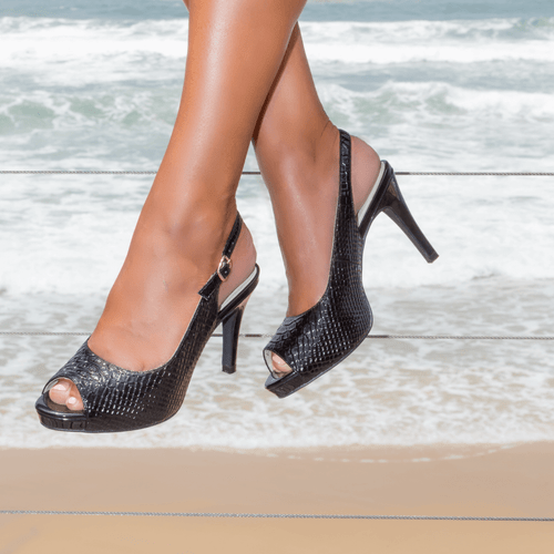 Black Mid Heel Slingback I Maxwell by Scarlettos