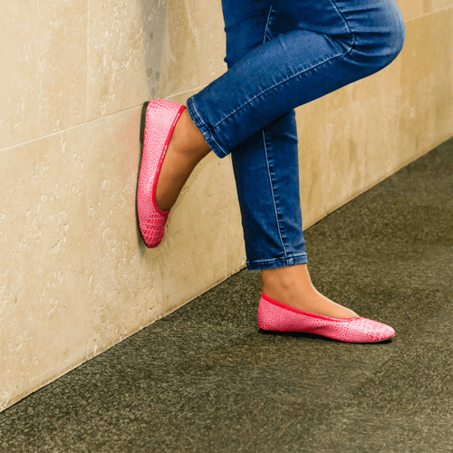 Hot Pink Casual Ballet Flat I Felicia by Scarlettos