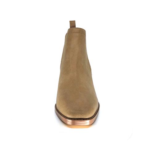 Nude Stonewash Low Heel Boot I Bennett by Scarlettos