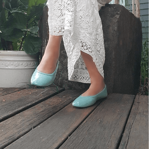 Pastal Blue Casual Ballet Flat I Sky by Scarlettos