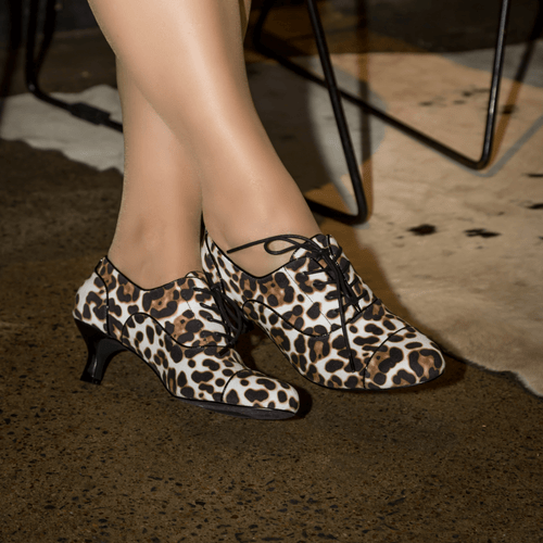 Leopard Low Heel Bootie I Elijah by Scarlettos