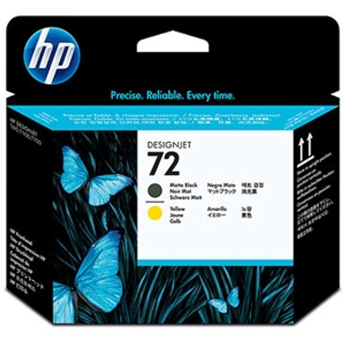 HP 72,Printhead, Matte Black,Yellow