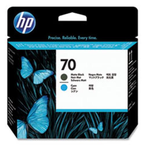 HP 70 - Printhead - 1 x Cyan,Matte Black - C9404A