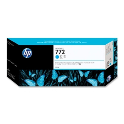 HP 772 Ink Cartridge - Cyan 300ml, CN636A