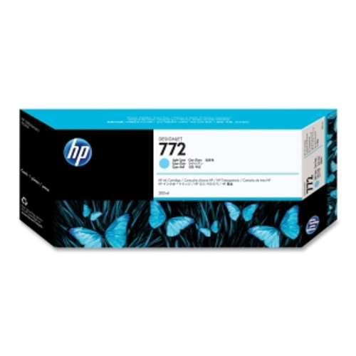 HP 772 Ink Cartridge - Light Cyan 300ml, CN632A