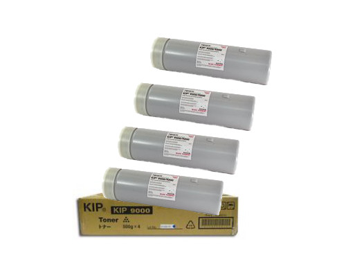 KIP OEM Wide Format Toner, 4-500 gm Cartridges, SUP9000-103A (KIP9000)