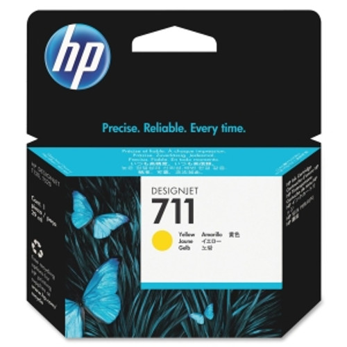 HP 711 Yellow Ink Cartridge, CZ132A