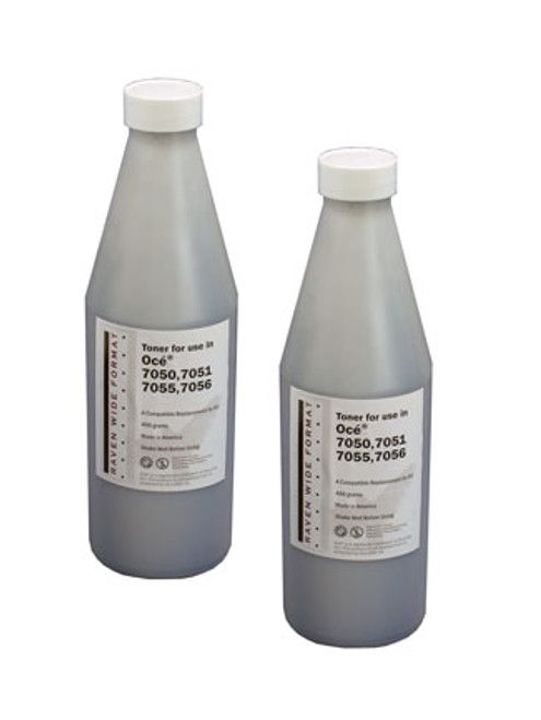 Oce Plotwave 700-750 Series toner,  2/500 gm.bottles,1 waste bottle