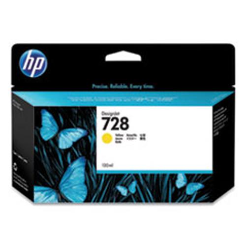 HP 728 130-ml Yellow DesignJet Ink Cartridge - F9J65A