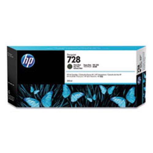 HP 728 300-ml Matte Black DesignJet Ink Cartridge - F9J68A