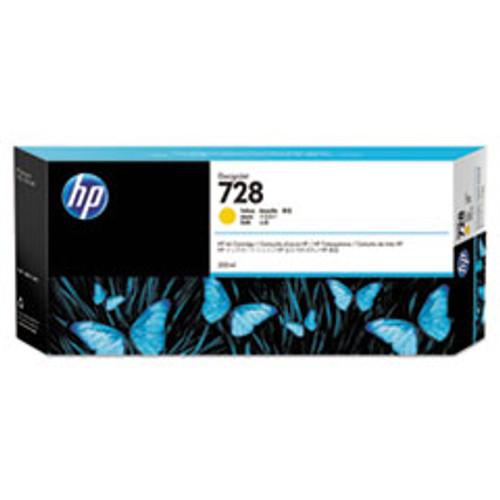HP 728 300-ml Yellow DesignJet Ink Cartridge - F9K15A