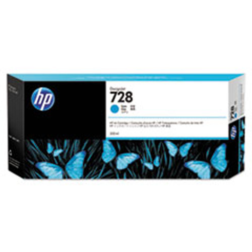 HP 728 300-ml Cyan DesignJet Ink Cartridge - F9K17A