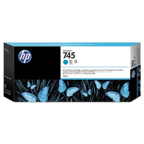 HP 745 300-ml Cyan DesignJet Ink Cartridge - F9K03A