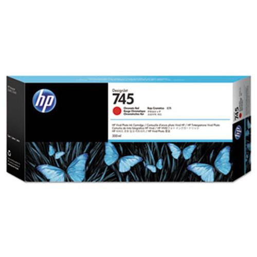 HP 745 300-ml Chromatic Red DesignJet Ink Cartridge - F9K06A