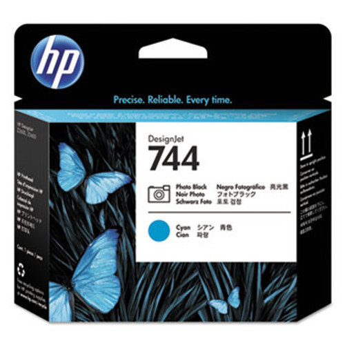 HP 744 Photo Black and Cyan Designjet Printhead - F9J86A