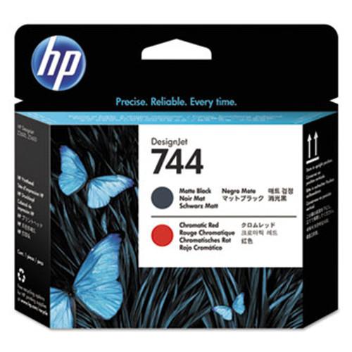 HP 744 Matte Black and Chromatic Red Designjet Printhead   - F9J88A